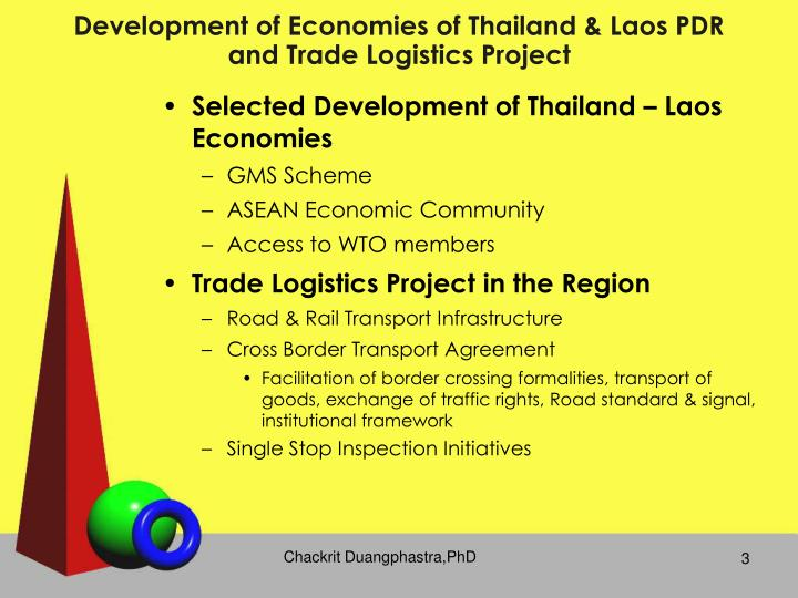 Development of Economies of Thailand & Laos PDR and Trade Logistics Project