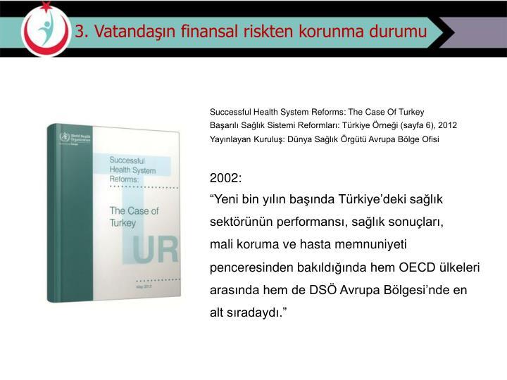 3. Vatandaşın finansal riskten korunma durumu
