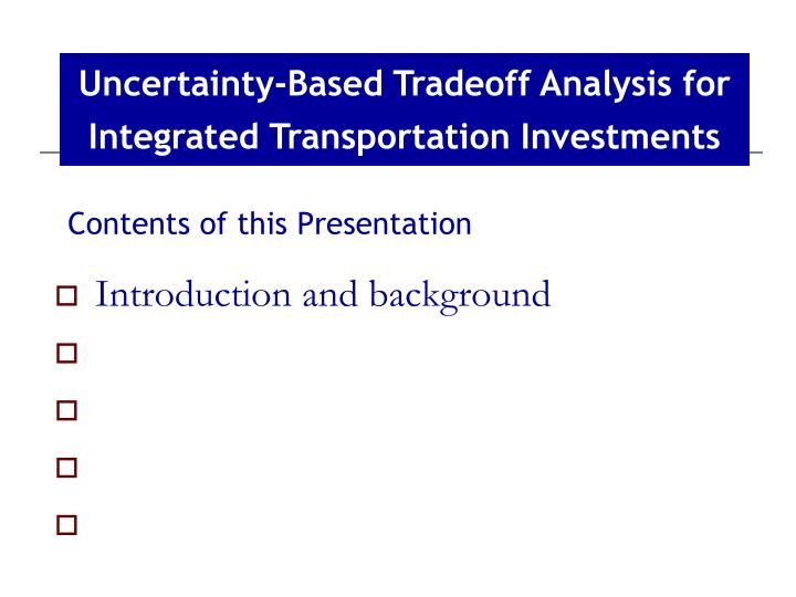 Contents of this presentation3