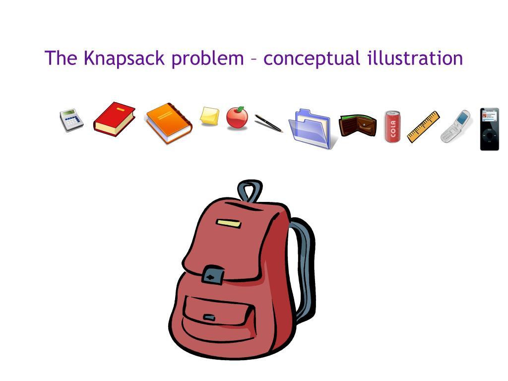 The Knapsack problem – conceptual illustration