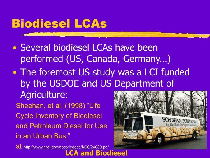 Biodiesel LCAs