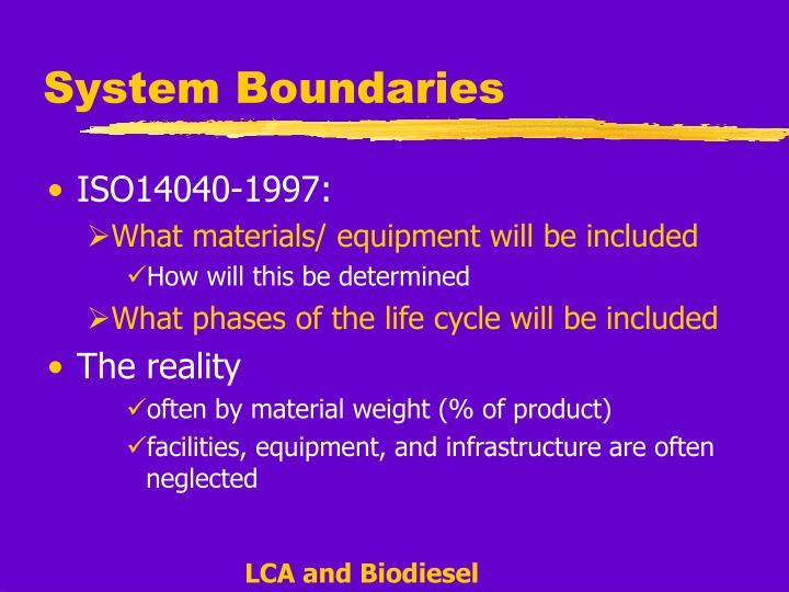 System Boundaries