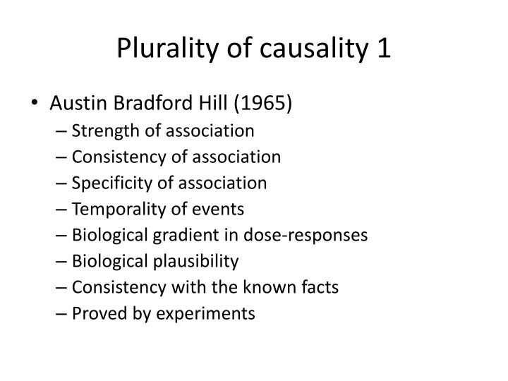Plurality of causality