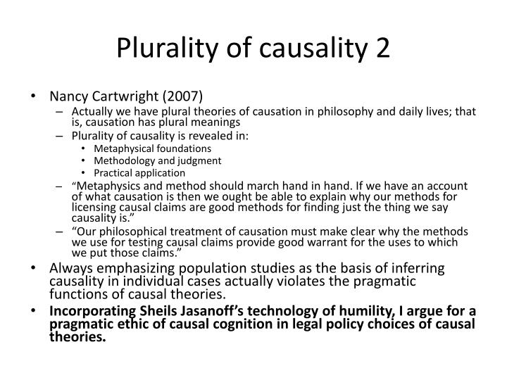 Plurality of causality 2