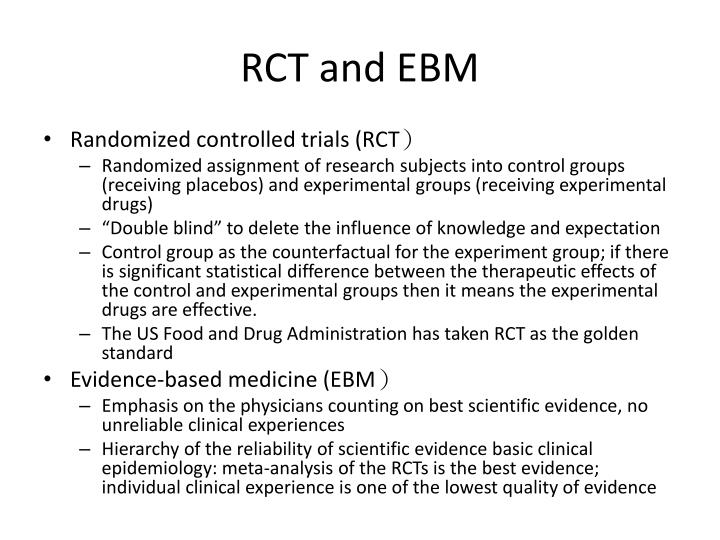 RCT and EBM