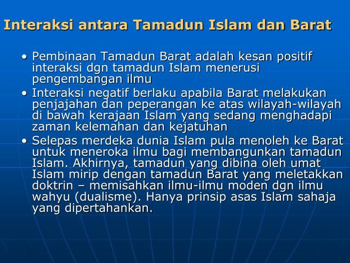 Interaksi antara Tamadun Islam dan Barat