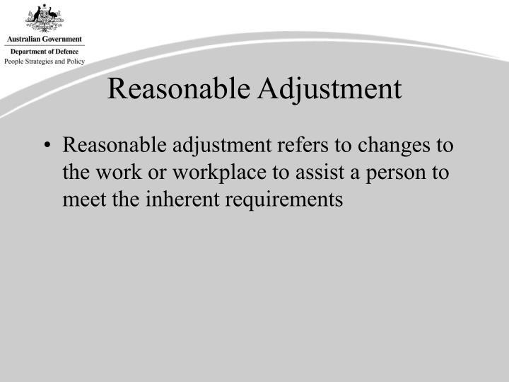 Reasonable Adjustment
