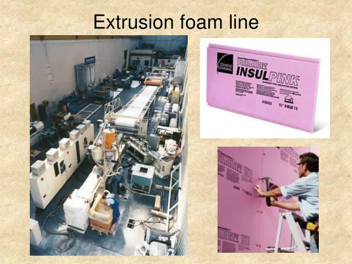 Extrusion foam line