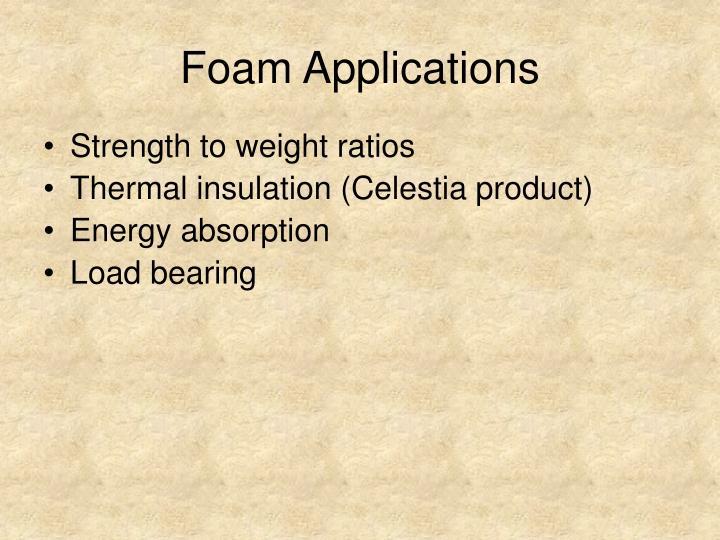 Foam Applications