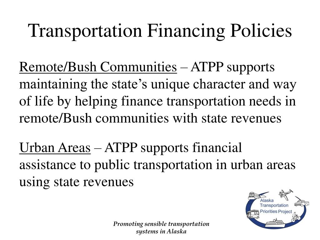 Transportation Financing Policies