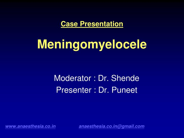 ppt - case presentation meningomyelocele powerpoint presentation, Skeleton