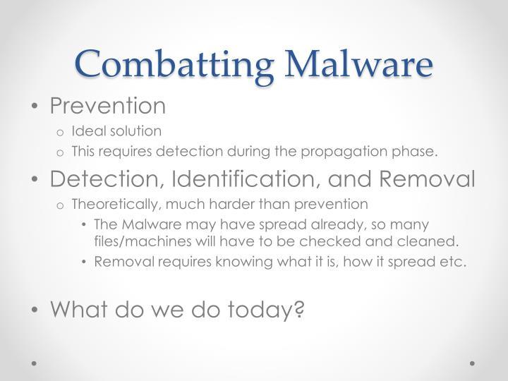 Combatting Malware
