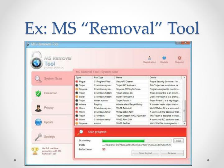 "Ex: MS ""Removal"" Tool"