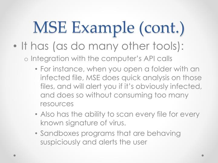 MSE Example (cont.)