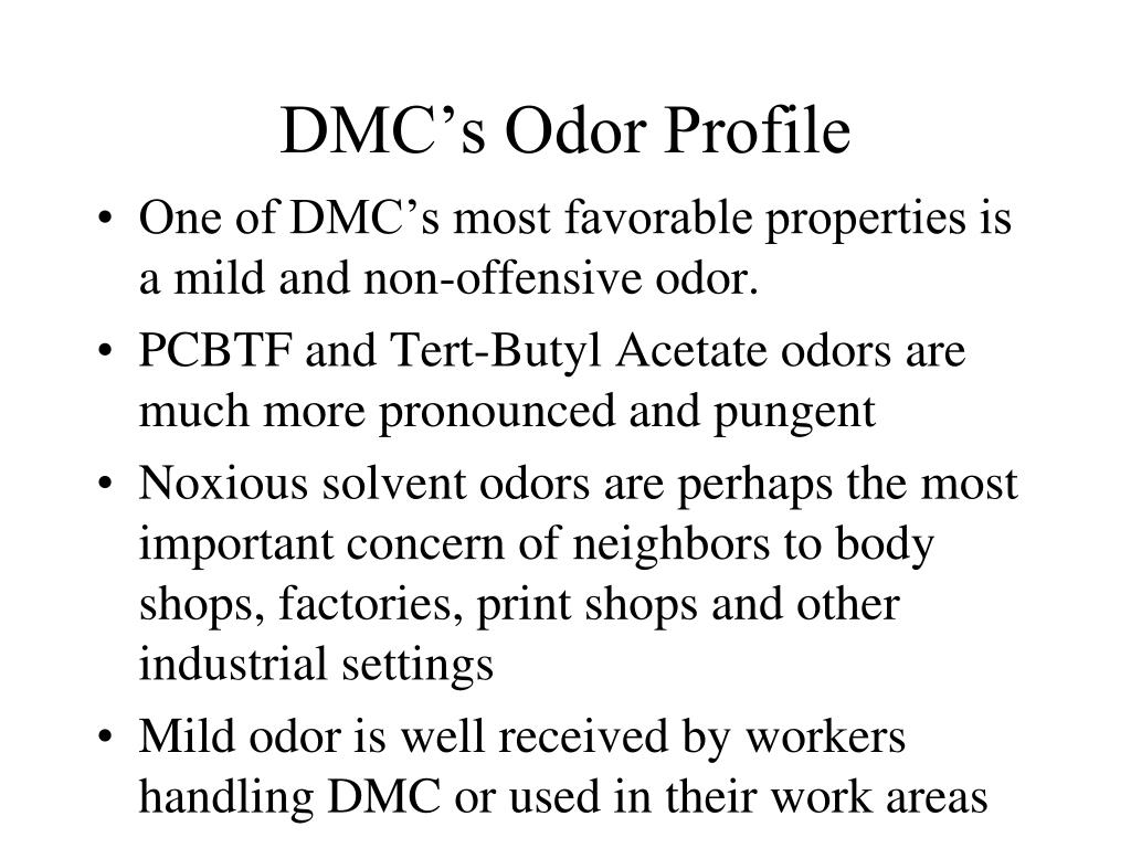 DMC's Odor Profile
