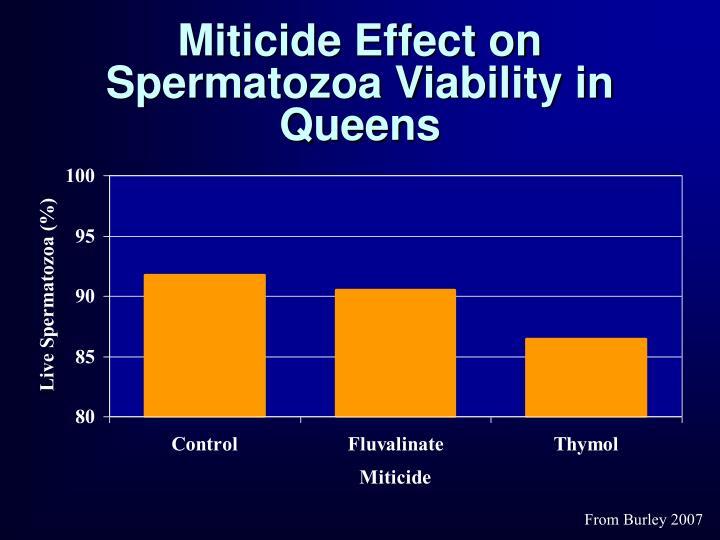 Miticide Effect on Spermatozoa Viability in Queens