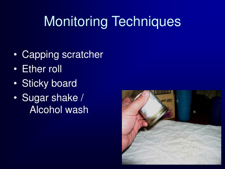 Monitoring Techniques