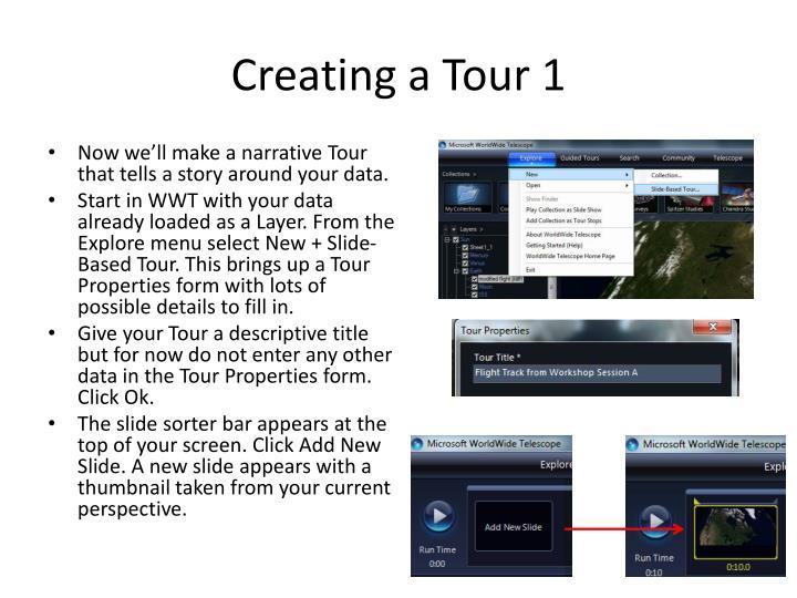 Creating a Tour 1