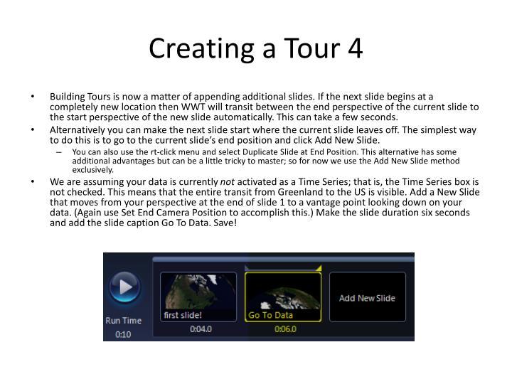 Creating a Tour 4