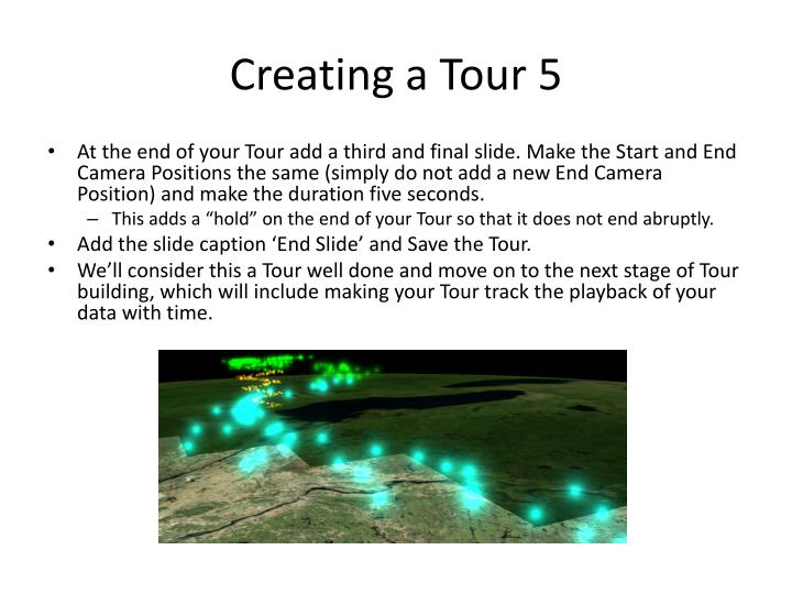 Creating a Tour 5