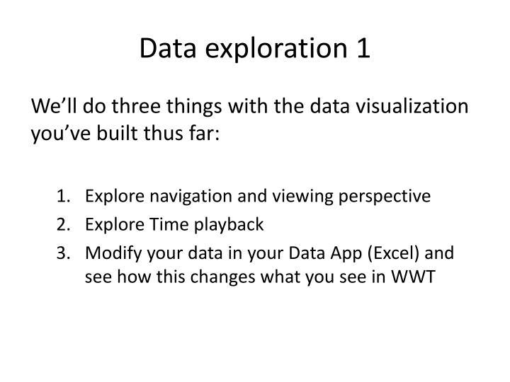 Data exploration 1