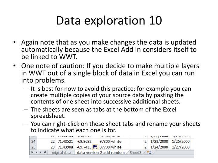 Data exploration 10