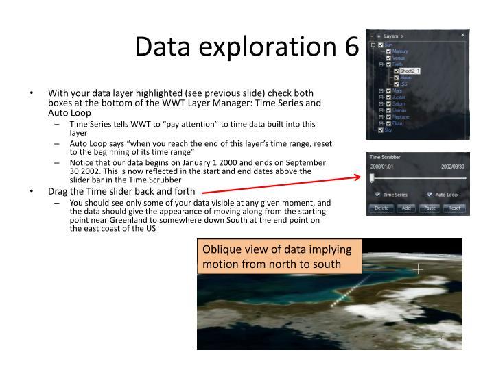 Data exploration 6