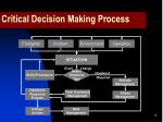 critical decision making process