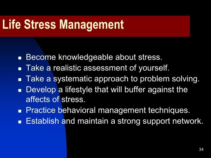 Life Stress Management