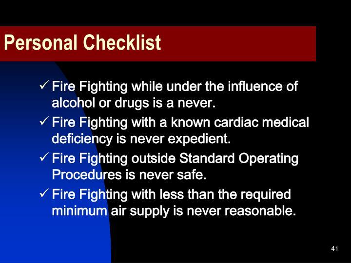 Personal Checklist