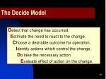 the decide model