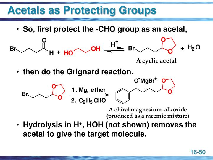 Acetals as Protecting Groups