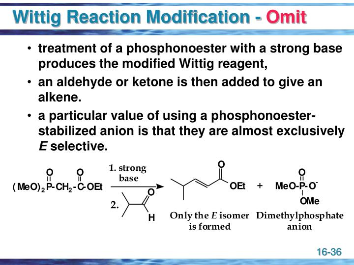 Wittig Reaction Modification -