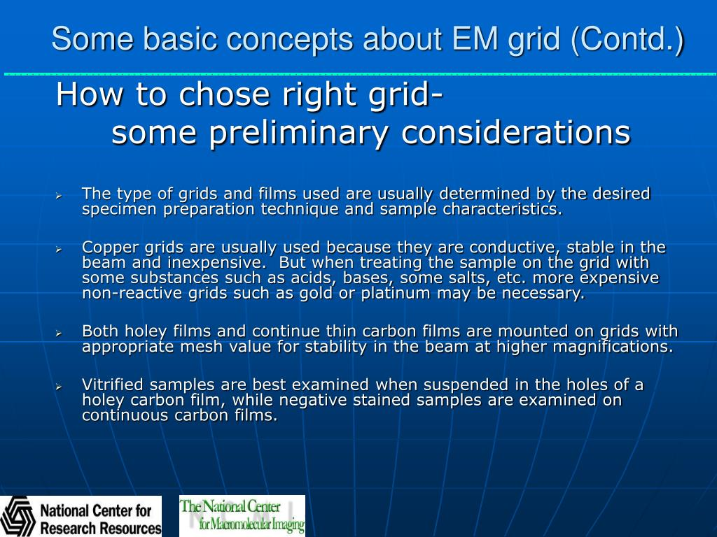 Some basic concepts about EM grid (Contd.)