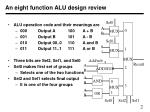 an eight function alu design review