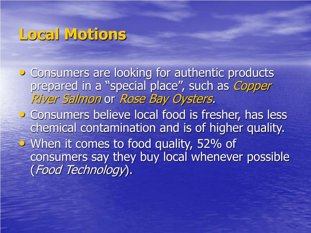 Local Motions