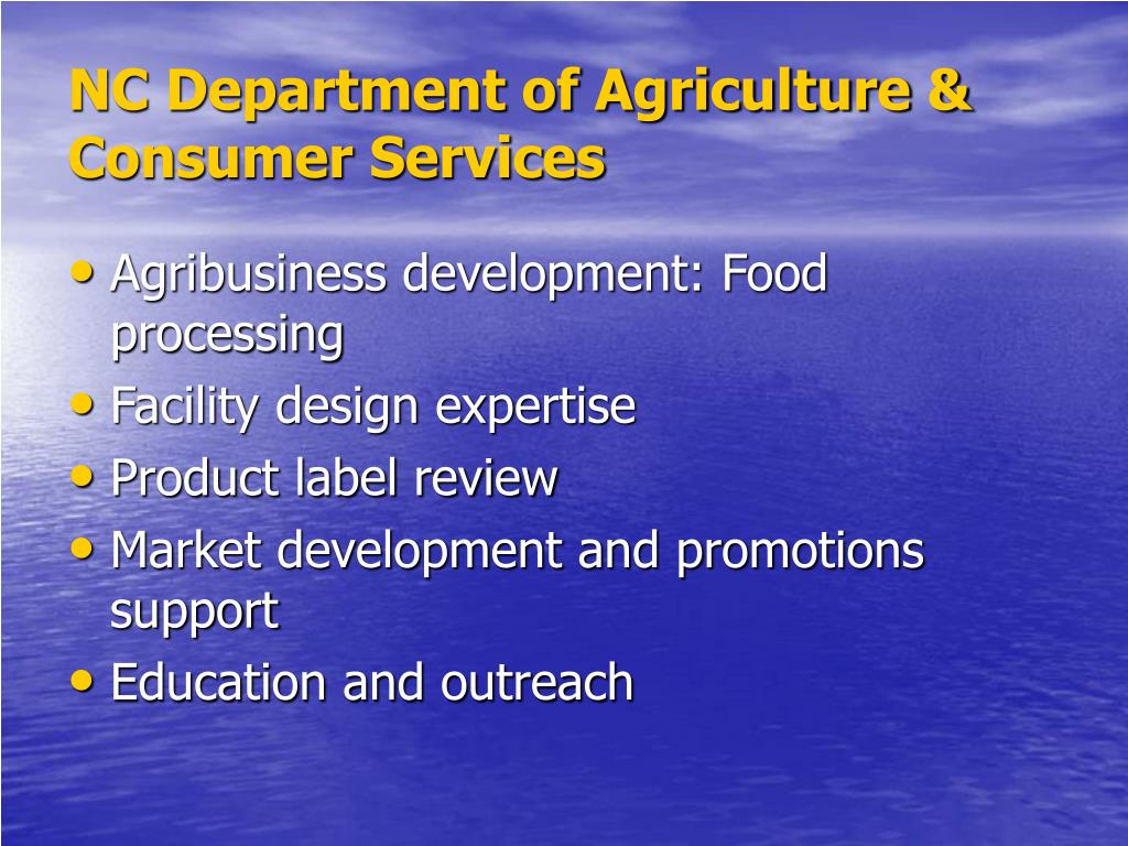 NC Department of Agriculture & Consumer Services