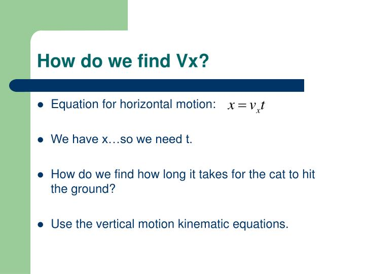 How do we find Vx?