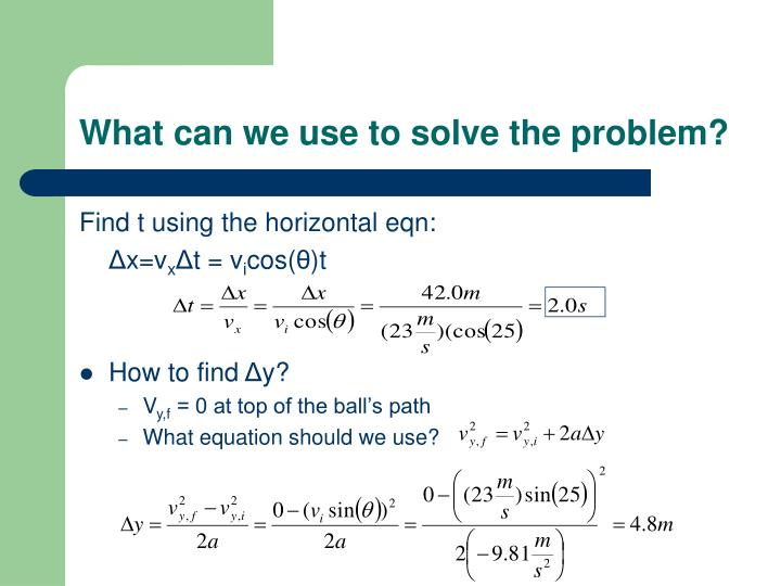What can we use to solve the problem?