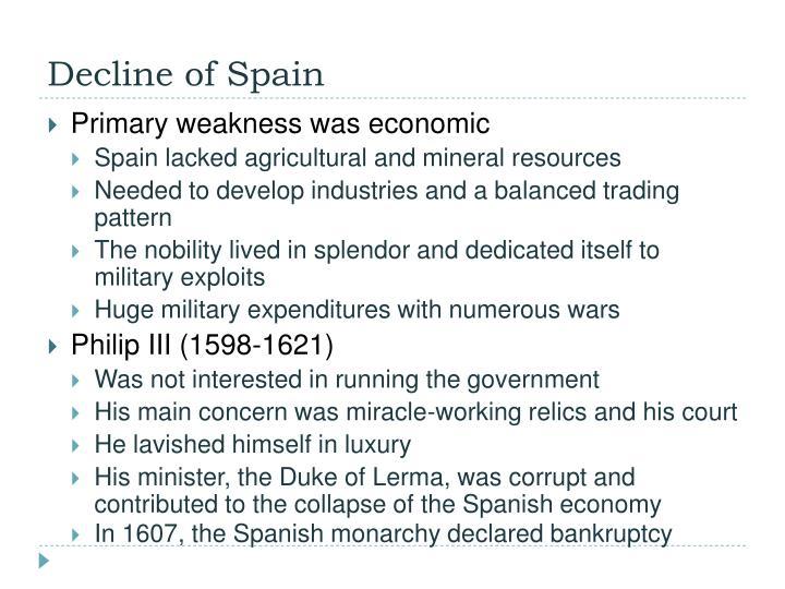 Decline of Spain