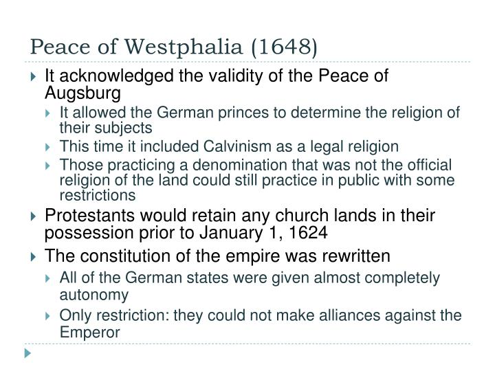 Peace of Westphalia (1648)