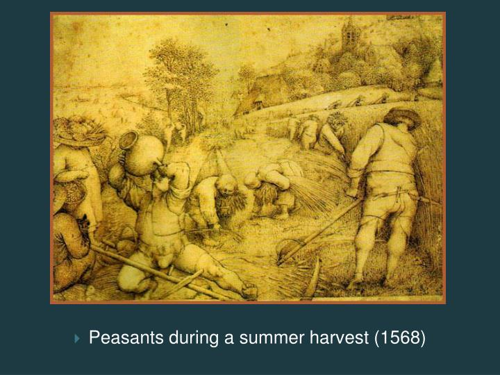 Peasants during a summer harvest (1568)
