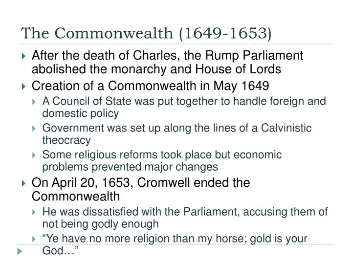 The Commonwealth (1649-1653)