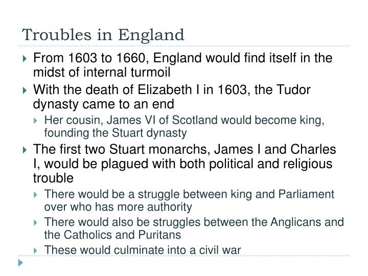 Troubles in England