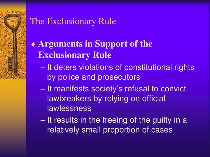 exclusionary rule Learn quiz criminal procedure exclusionary rule with free interactive flashcards choose from 231 different sets of quiz criminal procedure exclusionary rule flashcards on quizlet.