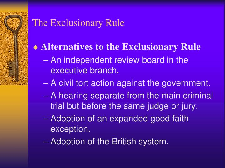 Exclusionary rule's crucial role