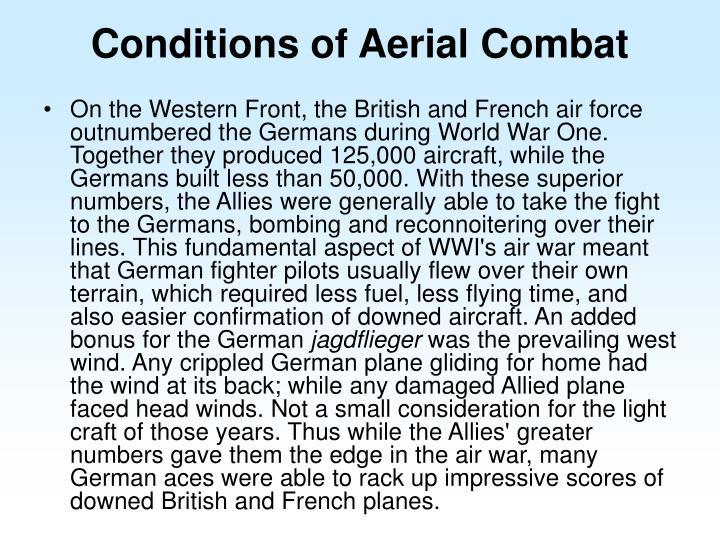 Conditions of Aerial Combat