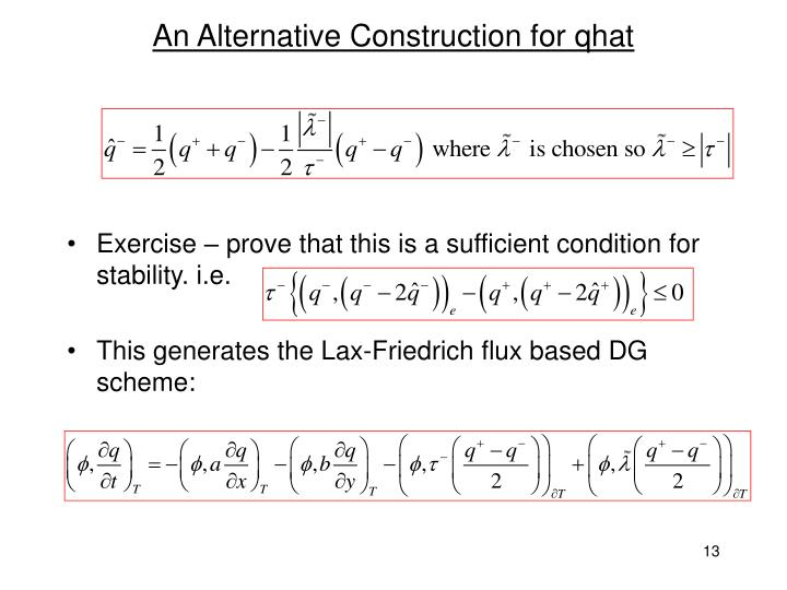 An Alternative Construction for qhat