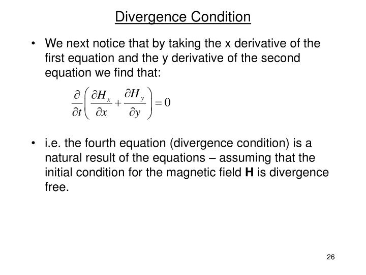 Divergence Condition