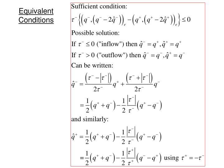 Equivalent Conditions